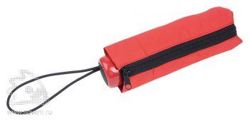 Зонт складной «Лорна», механический, красный, в чехле