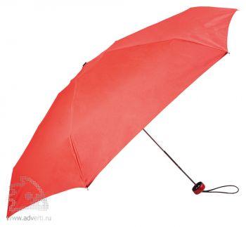 Зонт складной «Лорна», механический, красный