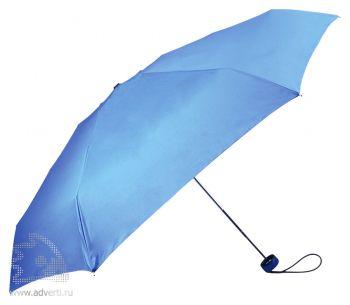 Зонт складной «Лорна», механический, синий