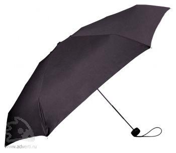 Зонт складной «Лорна», механический, черный