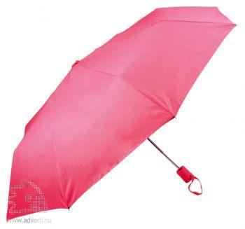 Зонт складной «Ева», автомат, розовый