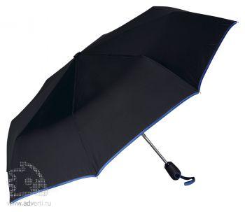 Зонт складной «Уоки», автомат, 3 сложения, синий