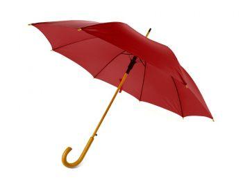 Зонт-трость «Радуга», полуавтомат, красный