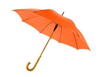 Зонт-трость «Радуга», полуавтомат, оранжевый