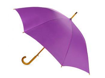 Зонт-трость «Радуга», полуавтомат, фиолетовый, сбоку