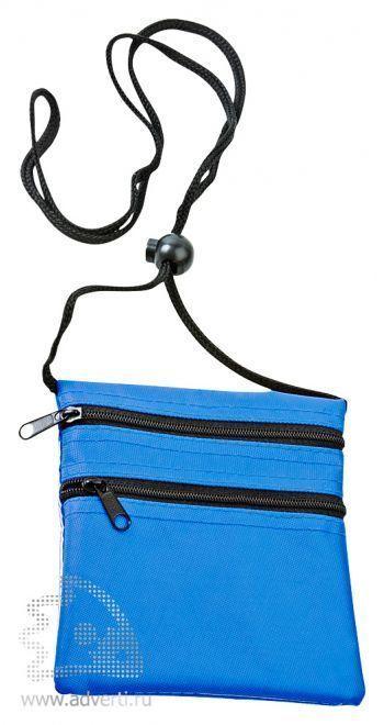 Нагрудный кошелек «Путешествие», синий
