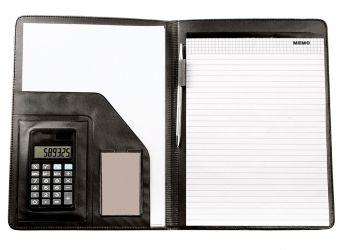 Конференц-папка с блокнотом и калькулятором, внутренний дизайн