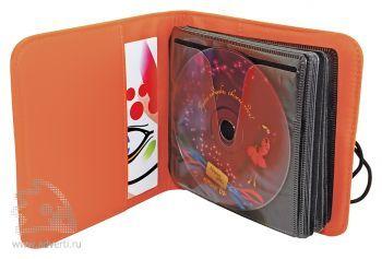 Футляр для 24-х CD-дисков на петле, оранжевый