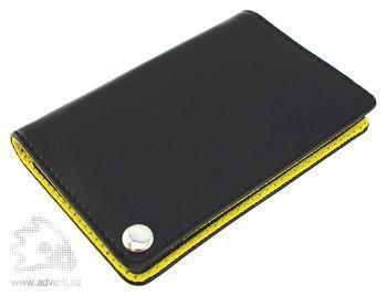 Футляр для пластиковых карт, визиток, карт памяти и SIM-карт, желтый