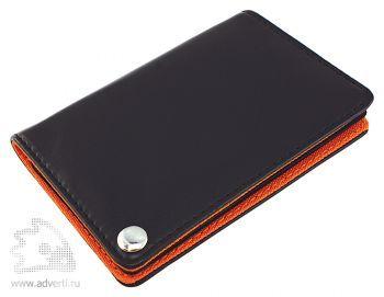 Футляр для пластиковых карт, визиток, карт памяти и SIM-карт, оранжевый