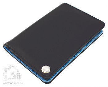 Футляр для пластиковых карт, визиток, карт памяти и SIM-карт, голубой