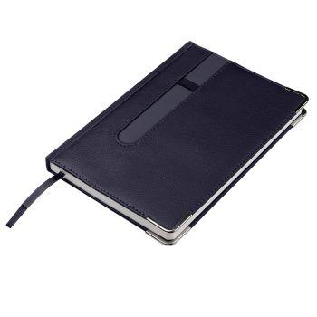 Ежедневник недатированный «ASTON» А5, темно-синий