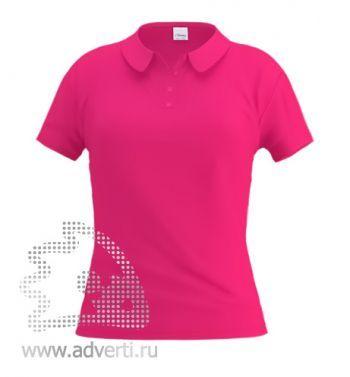 Рубашка поло «Stan Women», женская, розовая