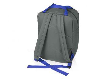Рюкзак «Lock» с отделением для ноутбука, синий, с другой стороны