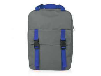 Рюкзак «Lock» с отделением для ноутбука, синий, спереди