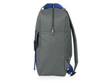 Рюкзак «Lock» с отделением для ноутбука, синий, сбоку