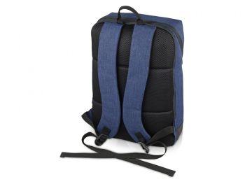 """Рюкзак «Bronn» с отделением для ноутбука 15.6"""", синий, сзади"""