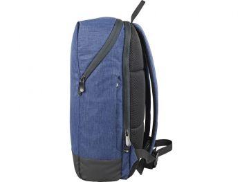 """Рюкзак «Bronn» с отделением для ноутбука 15.6"""", синий, сбоку"""