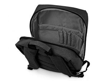 Бизнес-рюкзак «Soho» с отделением для ноутбука, темно-серый, открытый