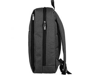 Бизнес-рюкзак «Soho» с отделением для ноутбука, темно-серый, сбоку