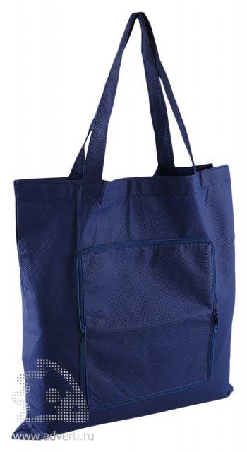 Складная сумка-косметичка для шопинга, синяя
