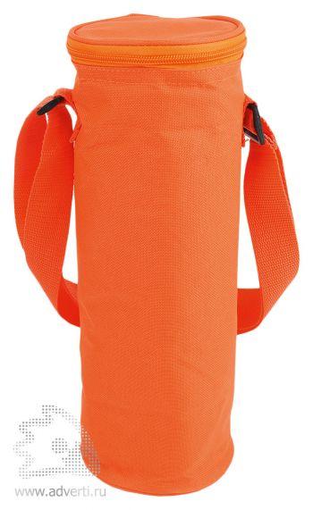 Сумка-холодильник для бутылки «Амбрен», оранжевая