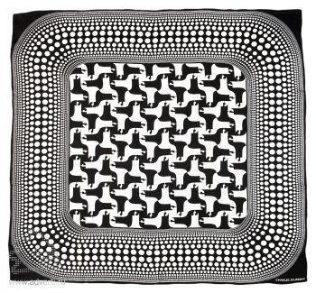 Платок шелковый Shadows, Jean-Louis Scherrer риунок