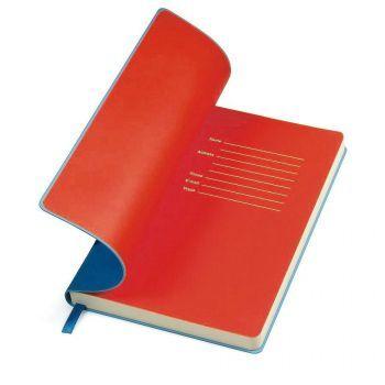 Бизнес-блокнот «Funky», синий, форзац-красный