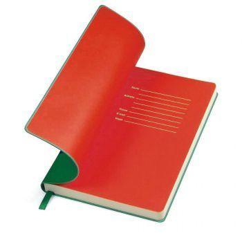 Бизнес-блокнот «Funky», зеленый, форзац-красный