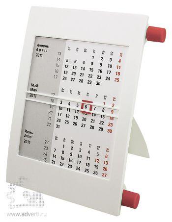 Настольный календарь «Пост 2» на 2 года, красный