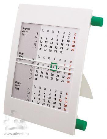 Настольный календарь «Пост 2» на 2 года, зеленый