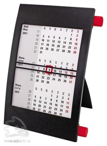 Настольный календарь «Пост 3» на 2 года, красный