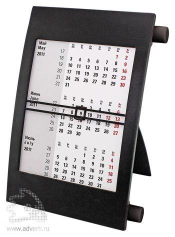 Настольный календарь «Пост 3» на 2 года, черный
