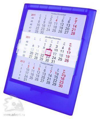 Настольный календарь на 2 года, синий
