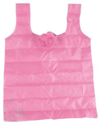 Складная сумка для шопинга в чехле в виде цветка розы, розовая
