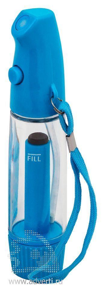 Флакон-спрей для жидкости «Мистер Water», синий