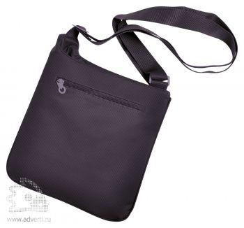 Конференц-сумка «Messenger», коричневая, оборот
