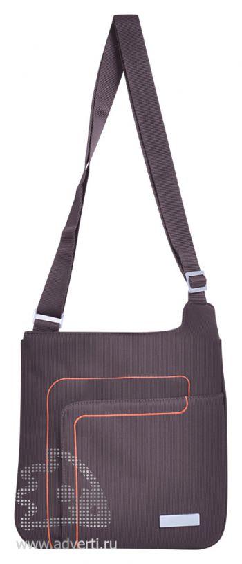 Конференц-сумка «Messenger», коричневая
