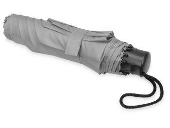 Зонт складной «Columbus», серый, сложенный