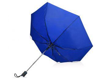 Зонт складной «Irvine», синий, вывернутый