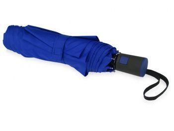 Зонт складной «Irvine», синий, сложенный