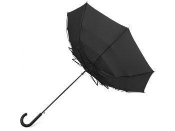 Зонт-трость «Wind», черный, вывернут