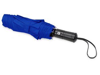 Зонт складной «Ontario», синий, сложенный