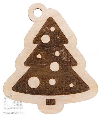 Елочная игрушка «Ёлочка», деревянная