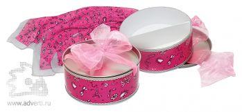 Набор «Парижские штучки «Розовый» с платочком, общий дизайн