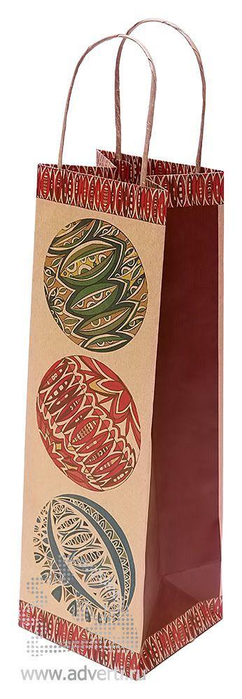 Пакет крафт «Миллефиори» под бутылку