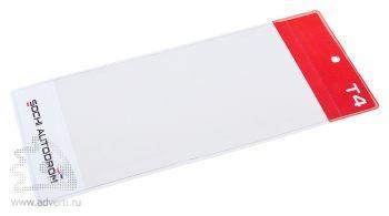 Вертикальный карман для бейджа с планкой под логотип