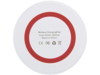 Устройство для беспроводной зарядки, красное, вид снизу