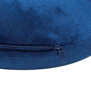 Подушка дорожная «SOFT», memory foam, синяя, молния