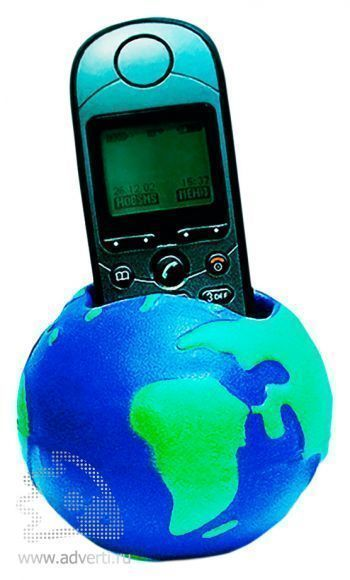 Антистрессболл-подставка под телефон «Земной шар»